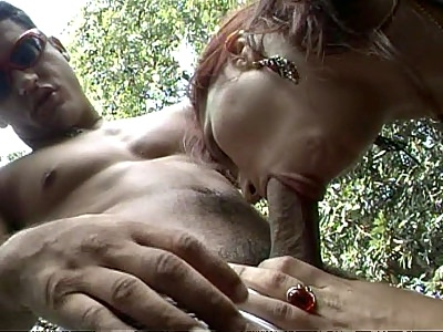 Latina Emily Outdoor Blowjob